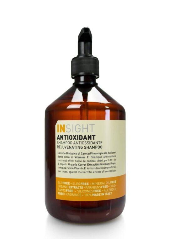 INsight Antioxidant SHAMPOO til naturligt slidt og kemisk skadet hår miljøvenlig naturlig glansgivende klor og saltvand afrensende vegans