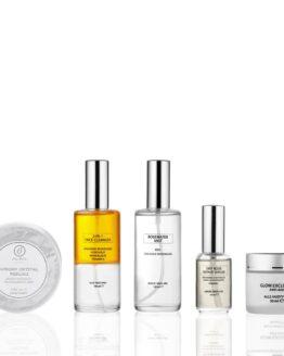 Glow Nordic komplet hudpleje serie der egner sig til alle hudtyper tør hud modenhud ung hud en hudpleje