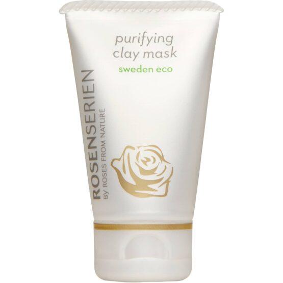 Rosenserien økologiske claymaske naturlig vegansk dybderens ansigtsbehandling