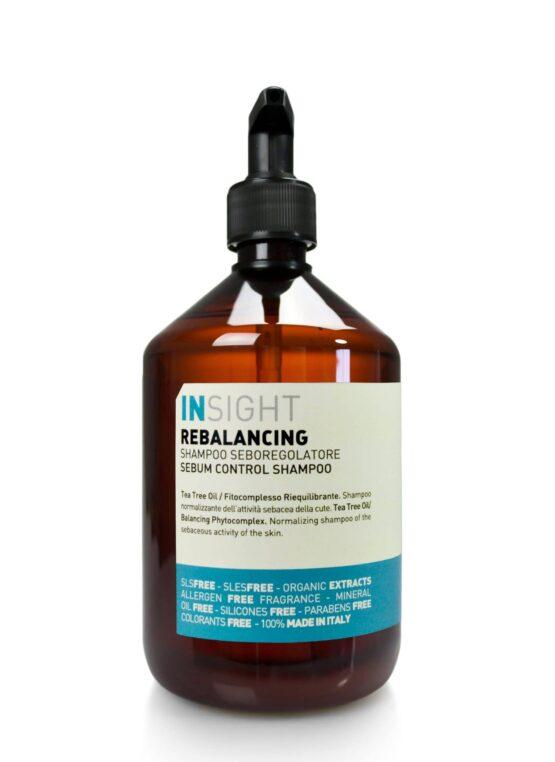 INsight rebalancing shampoo hårpleje til fedtet hår naturlig vegansk miljøvenlig fedtet hovedbund