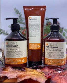 Insight Antioxidant shampoo, Conditioner og mask hårplejeprodukter tilbud sæt Insight hårpleje shampoo mask Conditioner 96% naturlig vegansk Gurli girl godkendt