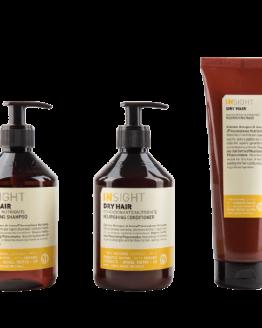 Insight Dry hair -shampoo, Conditioner og mask tilbud sæt Insight hårpleje 96% naturlig vegansk