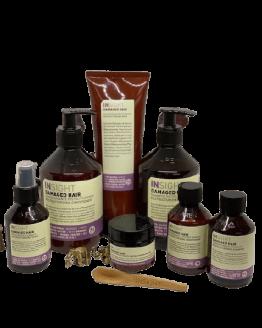 INsight Damaged Hair Komplet Hårplejesæt, Naturlig hårpleje til slidt og skadet hår