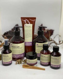 hårprodukter hårpleje 96% naturlig vegansk hårpleje Pakketilbud til skadet og ødelagt hår kemisk skadet hår pakke