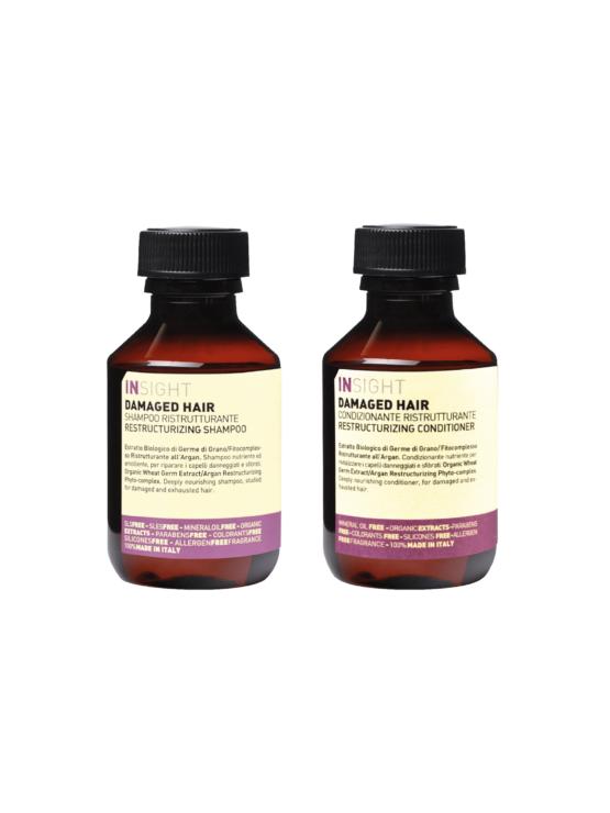 INsight Rejsestørrelse Hårplejesæt Shampoo og conditioner 100 ml flasker naturlig hårpleje flere varianter