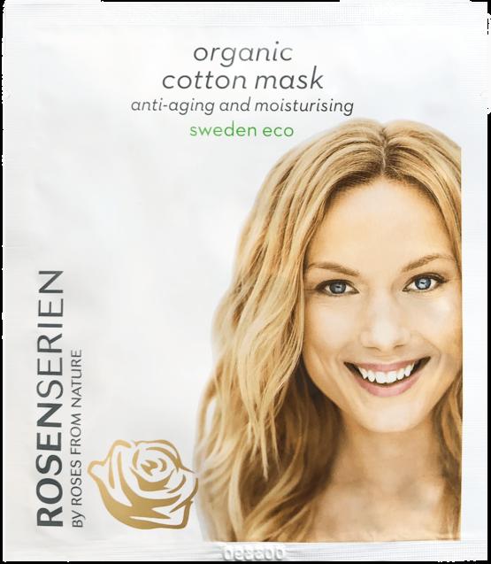 Rosenserien økologiske ansigtsmaske cottenmaske hudpleje