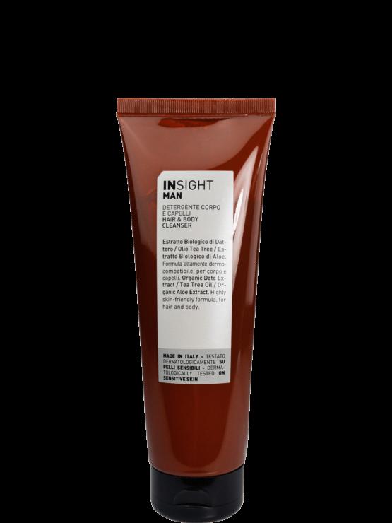 Man Hair &body shampoo 96%naturlig vegansk miljøvenlig 2in1