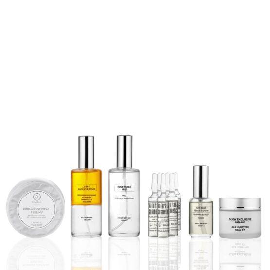 Glow Nordic Hudplejesæt er en effektivt hudplejesystem som giver huden en flot glød og blød hud igenskønhedsprodukter