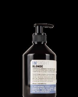 INsight Blonde shampoo silver shampoo anti yellow 96% naturlig vegansk smuk blond farve
